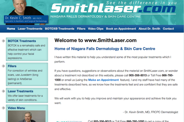 SmithLaser.com - Smith Laser - Adam Sawicki Toronto Web Developer