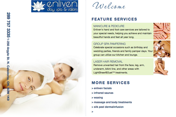 EnlivenDaySpa.com - Enliven Day Spa - Adam Sawicki Toronto Web Developer